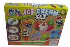 KIDS CHILDRENS ICE CREAM PLAY DOUGH CRAFT GIFT SET TUBS AND SHAPES TOY HOBBY