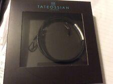 TATEOSSIAN London Bracelet Double Strand Leather Flat Black BNIB RRP £95.00