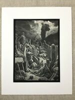 The Valley of Death Skeleton Dry Bones Religious Art Engraving Antique Print