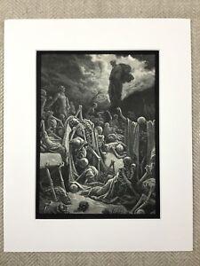 The Valley of Death Skeleton Dry Bones Religious Art Engraving Antique Print