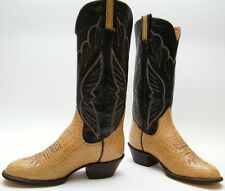 MENS SANDERS VINTAGE TALL BROWN LEATHER RIDING COWBOY WESTERN BOOTS SZ 6.5~1/2 D