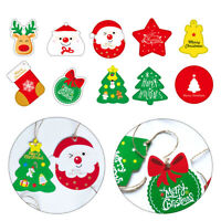 28pcs Set Christmas Greeting Cards Xmas Tree Snowman Party Festival Ornaments