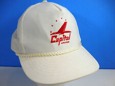 Vintage Capital Airlines Snapback Baseball Trucker Hat Cap Airplane Rare Pilot