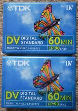 TDK MINI DV TAPES - 60 Min - 90 Min LP - Digital Standard - 2 - Video Cassette
