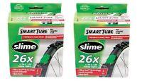 """Slime Smart 26"""" x 1.75 - 2.125"""" Presta Bike Tyre Self Sealing Inner Tubes"""