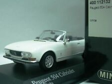 WOW EXTREMELY RARE Peugeot 504 Cabriolet 1974 White 1:43 Minichamps-205/404/GTi