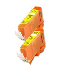 2 PK YELLOW ink Cartridge w/ chip fits Canon CLI-221 iP4600 iP4700 MP560 MP620
