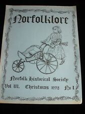 NORFOLKLORE HISTORICAL SOCIETY CANADA CHRISTMAS 1975 BOOK 75TH ANNIVERSARY