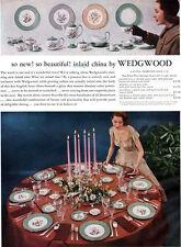 Wedgwood Greenwood Inlaid China MILFORD Southold HALFORD 1957 Magazine Print Ad