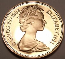 Cameo Proof Great Britain 1983 Penny~Proof Coins Are The Mints Best Work~Free Sh