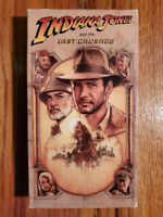Indiana Jones and the Last Crusade Ford Connery 1989 VHS HTF OOP Original Rare