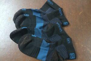 Salomon Outpath Low Outdoor walking Technical Socks 4-7 Black Blue