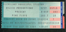1987 Pink Floyd Concert Ticket Stub A Momentary Lapse Of Reason Tour Cleveland