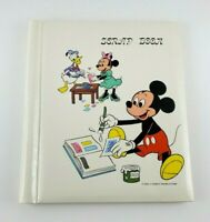 Vintage Old Walt Disney Scrap Book Mickey Mouse Minnie Donald Duck Scrapbook