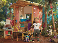"""AMERICAN GIRL LEA RAINFOREST TREE HUT FOR 18"""" DOLL BRAND NEW IN SEALED BOX 2016"""