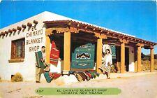 ROADSIDE BLANKET SHOP, CHIMAYO, NEW MEXICO, VINTAGE POSTCARD