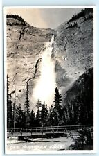 *Takakkaw Falls Yoho Valley BC Canada RPPC Vintage Real Photo Postcard C79