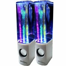 iBoutique The Original White Dancing Water Speaker ColourJets USB PC/Mac/MP3/etc
