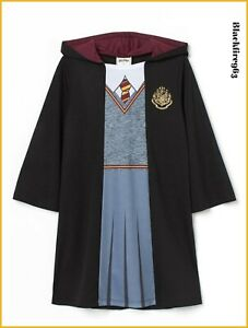 Girls Harry Potter Robe Hermione Granger Fancy Dress Costume Character Outfit
