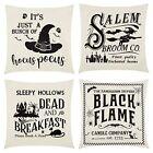 Halloween Pillow Covers 1818 Set of 4 Linen Hocus Pocus Halloween Throw Pillows
