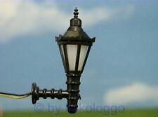 S324 - 5 Stück Wandlampen mit LED -  Höhe 3,5cm Straßenlampen Lampen