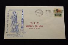 SPACE COVER 1969 MACHINE CANCEL SAC MINUTEMAN 1 BOOSTER 3RD STAGE FAILURE (2530)
