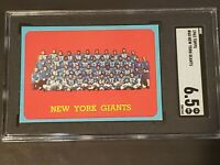 1963 Topps #60 New York Giants Football SGC 6.5 Newly Graded & Labelled