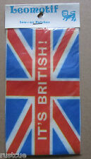 Union Jack Its British Vintage Leomotif Cloth Sew On Patch Badge Crafting Sewing