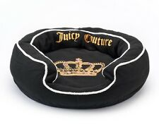 """New JUICY COUTURE Limited Edition Black SMALL PET BED 21""""x21"""" for CAT/DOG"""