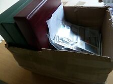 More details for gb 1840-2005 large stamp & coin collection, 3x album in box,huge cat, face value