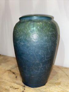 Early Hampshire Art Pottery Mottled Blue/Green Matte Vase