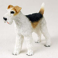 Wirehair Fox Terrier Figurine Hand Painted Collectible Statue