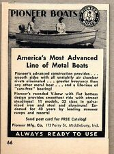 1951 Print Ad Pioneer Metal Boats Made in Middlebury,IN
