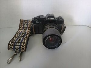 Canon T60 35mm SLR Film Mount Camera w Sigma 35-70mm Lens Untested