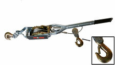 4 TON HEAVY DUTY 2 HOOK CABLE PULLER HAND WINCH TURFER FOR CARAVAN BOAT TRAILER