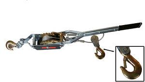 4 TON HEAVY DUTY 2 HOOK CABLE PULLER HAND WINCH TURFER FOR CARAVAN BOAT TRAILER