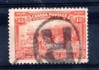 Canada 1908 15c Quebec brown orange fine used #194 WS12226