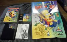 SIMPSONS BART VS The WORLD Complete NINTENDO NES GAME W/ Manual & Poster