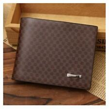 GENUINE Leather Wallet Men's Brown Money Purse SIM ID Perfect Gift/Present UK