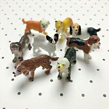 Vtg Plastic Canine Dog Figurine Toys Vintage Beagle Sheepdog Papillon Dachshund