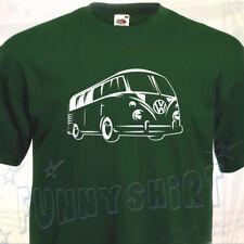 T- SHIRT COMBI VW Volkswagen Split Camper Bus Type 1 60's 70's Westfalia Camping