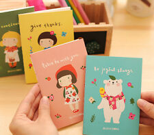 4 x Booklets Cute Give Thanks Girl Pad Fun Kids stationary Memo Note Book