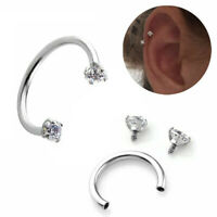 10mm Piercing Septo Nose Lip Ear Septum Cartilage Captive Hoop Ring Jewelry Gift