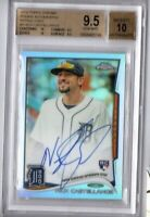 2014 Nick Castellanos Topps Chrome Rookie Auto Graded BCG 9.5 refractor # /499