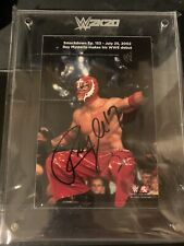 WWE 2K20 Exclusive Rey Mysterio Signed Plaque Autograph Collectible