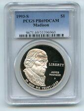 1993 S $1 Bill of Rights Silver Commemorative Dollar PCGS PR69DCAM
