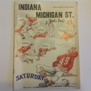 Indiana vs Michigan State Dad's Day football program 09/24/1955