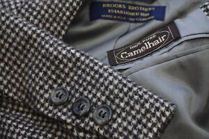 Brooks Brothers Black Gray 100% Pure Camelhair Sport Coat Jacket Sz 42R