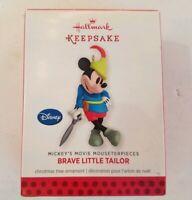 Hallmark Ornament Mickey Mouse  Brave Little Tailor Keepsake Mouseterpieces2013