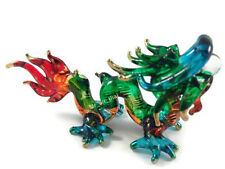 MINIATURE DRAGON HAND BLOWN GLASS ART DRAGON FIGURINE ANIMAL SOUVENIR GIFT